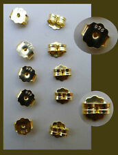 5 pairs vermeil  earring back and earring nuts, 5x6mm