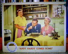 Andy Rooney Lobby Card ANDY HARDY COMES HOME (1958) plus Fay Holden & Sara Haden