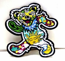 Grateful Dead Fare Thee Well PSYCHEDELIC Patch Bear Dancing band Applique SEW