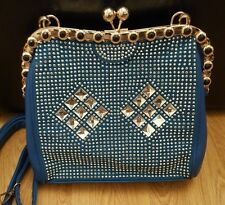 Blue Diamonte bag