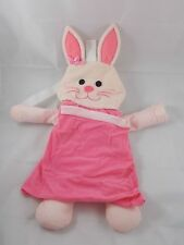 "Mattel Pink Bunny Rabbit Plush Backpack Storage 20"" Tall 2000"