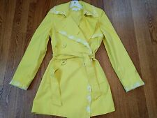 NWT Escada Yellow SPRING Trench Coat Germany Size FR 36 Small