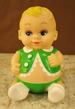 VTG 1968 UNEEDA DOLL CO RUBBER SQUEAK TOY PLUM PEE'S CHUBBY ROLY POLY BOY WORKS