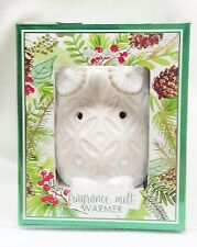 1 Bath & Body Works White Barn Ceramic OWL Fragrance Melts Wax Tarts Warmer Unit