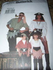 BUTTERICK #6295-MENS & LADIES PIRATE SHIRT-PEASANT BLOUSE-SKIRT PATTERN XS-XL FF