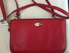 NWT Coach Pebble Leather Lyla Crossbody/Wristlet F53157 Red
