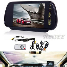 HD 7'' LCD Mirror Monitor+Wireless Night Car Reverse Rear View Backup Camera EE