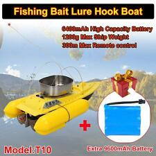 T10 RC Bait Boat Lure Hook Fishing Anti Grass+Free High Capacity 9600mAh Battery
