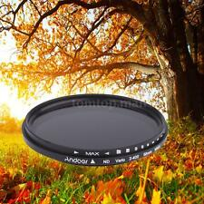 Andoer 58mm ND Fader Neutral Density ND2 to ND400 Variable Filter for Canon QQ3D