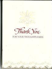 Thank You Notes Cards 10 Pack Elegant Bridal Silver Formal Fleur de Lys Flower