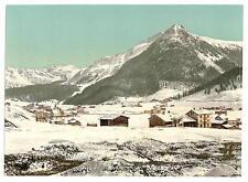 Davos dorfli et seehorn en hiver Grisons A4 papier photo