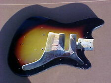 Vintage 1960s Sunburst Vox Hurricane Spitfire Guitar Body 60s Vox Project