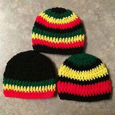 Rasta Crochet newborn - 3 month Hat Set photo prop baby shower gift