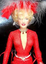"Franklin Mint Marilyn Monroe Red Gentlemen Prefer Blondes 16"" Vinyl Doll Box"