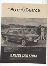 Mazda 1300 Original Advertisement removed from a Magazine