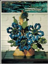 Blue Ruffles Floral Arrangement Pattern - Craft Book: #CCP1 Bloomin' Macrame