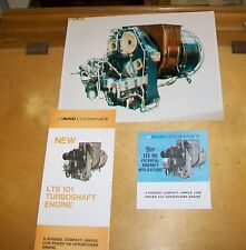 AVCO LYCOMING LTS 101 AIRCRAFT ENGINE BROCHURES & PHOTOGRAPH 1973