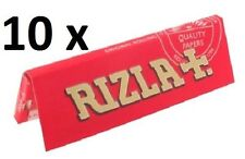 RIZLA Rolling papers (RED) 10 X 50 papers