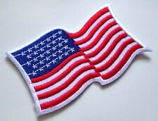United States of America USA Fluttering Flag Sew on Patch Free Shipping