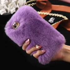 Luxury Furry Case Shockproof Rabbit Fur Cover Bumper for iPhone 7/7 Plus/ 6 6s +