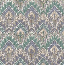168 Sq Ft 3 Double Rolls Geometric  Aztec Green Blue South West Native Wallpaper
