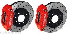 WILWOOD FORGED FRONT BRAKE KIT DRILLED ROTORS HONDA CIVIC 99-00 SI 140-12996-DR