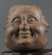Agalloch eaglewood hand-carved buddha head statue of pleasure anger sorrow joy