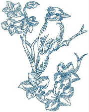 1061:  Machine Embroidery Designs -Birds - Redwork