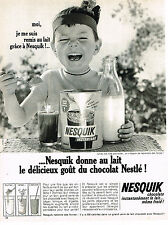 PUBLICITE ADVERTISING  1965   NESQUICK    boisson chocolatée