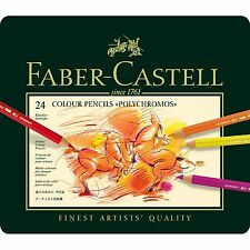 FABER- CASTELL  POLYCHROMOS  ARTISTS QUALITY COLOUR PENCILS - 24 SET - BNIB