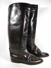 Vintage Knee High Riding Boot Women size 9 M Burgundy Leather