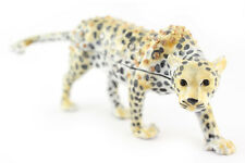 Cheetah Jaguar Leopard Jewelry Trinket Box Decorative Collectible Animal 02033A