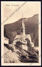 TRENTO VIGO DI FASSA 43 Frazione SAN GIOVANNI Cartolina 1924