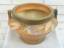 Roseville Futura Jardiniere 616-7 Tan, Green, Yellow, Blue Superb Condition