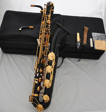 Professional Black lacquer Baritone Saxophone Eb Sax Low A high F# with new case