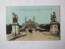 CPA Paris. Le Palais du Trocadéro. Construit pour l'exposition de 1878