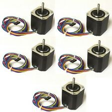5pcs NEMA17 Stepper Motor,76 oz-in - DIY CNC, Robot, Reprap, Makerbot, Arduino,