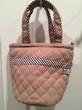 NWOT NaRaYa Fabric Brown Purse With Bow Size Small