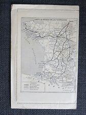 PAYS BASQUE ANDALOUSIE HAUTES PYRENEES carte lettre chemins de fer illustrations