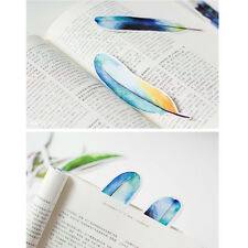 "30pcs/Pack Colorful Paper Bookmark Book Mark --- ""Feather"""