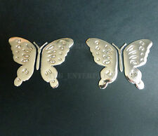 2 Silver Chrome Effect Butterfly Badge Decal for VW Touran Touareg Transporter