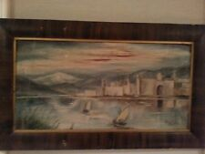 ANTIQUE FINE ART OIL PAINTING ON CANVAS  Mystical  Feel By DORA LYE