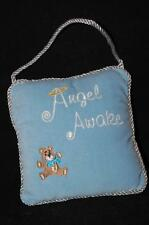 "Blue Baby Pillow Auton Angel Awake Asleep 6"" x 5 1/2""  Plush Stuffed Hanger New"