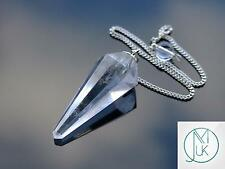 Clear Quartz Gemstone Point Pendulum Dowsing Crystal Dowser Chakra Healing