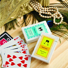 50 Personalized Playing Cards Deck Wedding Party Shower Event Favor Bulk Lot