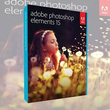 Adobe Photoshop Elements 15 VOLLVERSION DEUTSCH NEU DVD inkl. Zweitnutzungsrecht