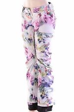 $200 Adidas Floral Print Women's Snowboarding Regular Fit Insulated Pants XS