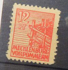Briefmarke - Mecklenburg Vorpommern 12 Pf - 1946