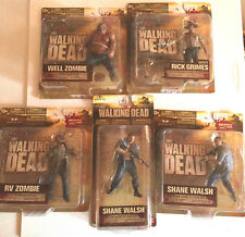 Lot of 5 Walking Dead Series 2 Action Figures Zombies, Walsh, Grimes