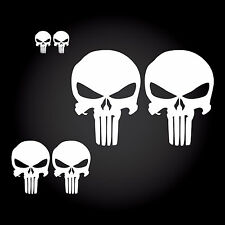 6 x Punisher AUTO ADESIVO STICKER JDM Shocker Teschio Skull Targa